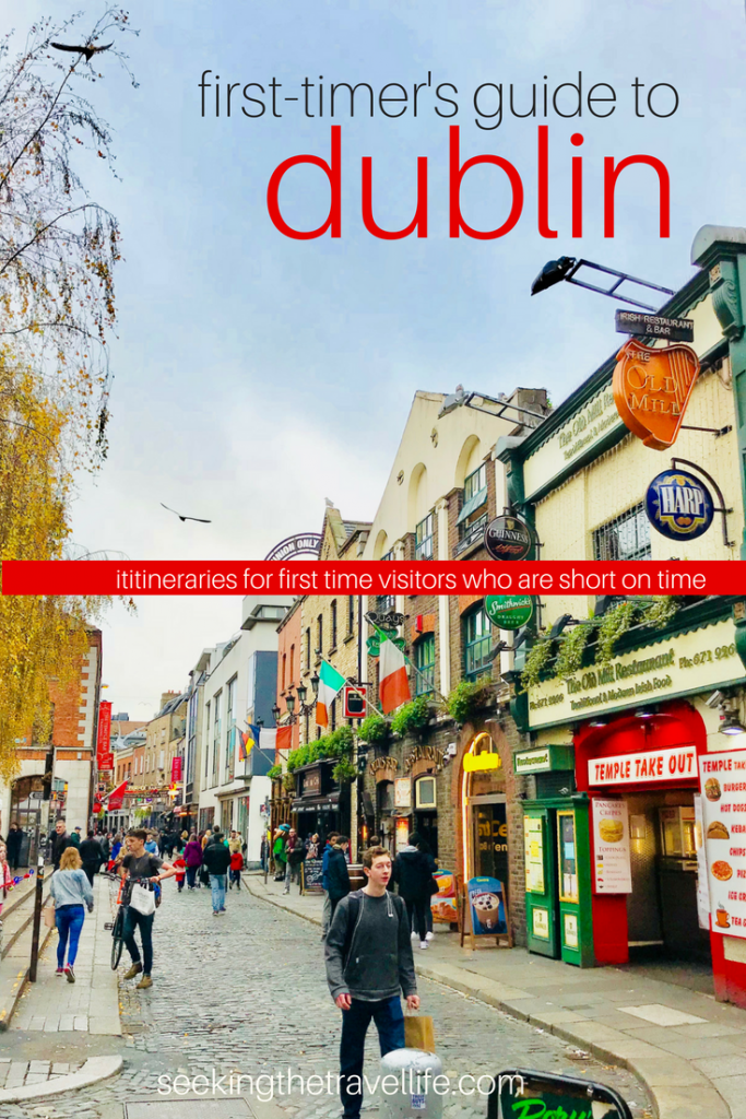 First timer's travel guide to Dublin. 1, 2, and 3 day itineraries to Dublin when you're short on time.