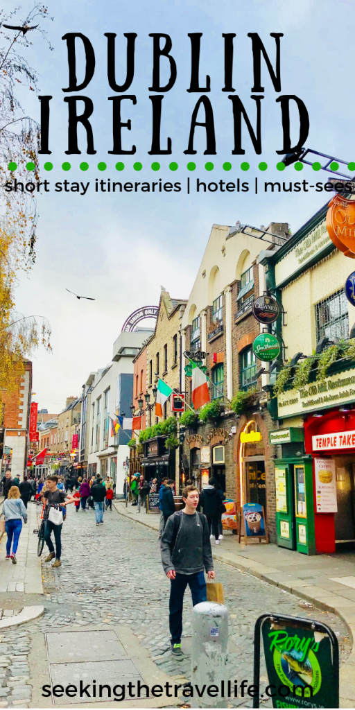 You are gonna love Dublin Ireland. It is a charming city with a small town feel that can't be missed. Here are our recommendations if you're short on time but want to get in all the Dublin 'things to do' on your list. We've got short perfect short stay itineraries, great hotel ideas, and your must-see list. Dublin is a perfect travel destination in Europe we know you'll love. #dublin #ireland #dublinthingstodo #europetravel #traveleurope #seekingthetravellife #traveltips #europedestinations